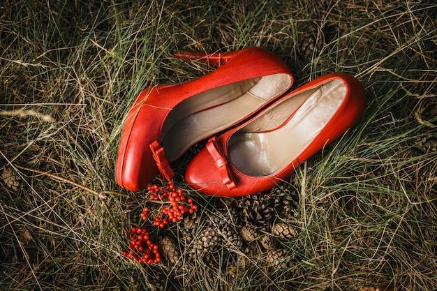 Sapatos vintage de casamento Foto Premium