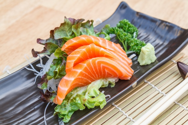 Sashimi salmão Foto gratuita