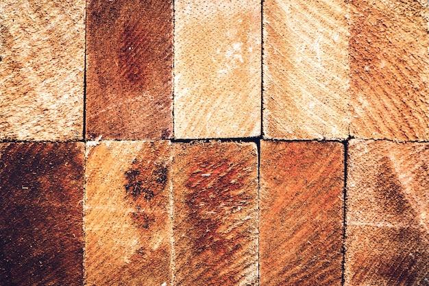 Seção transversal, de, árvore, trunkin, rectangular, shpe, cima, textura, fundo Foto Premium