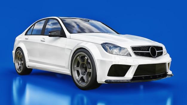 Sedan de forma de corpo. o ajuste é uma versão de um carro familiar comum. Foto Premium