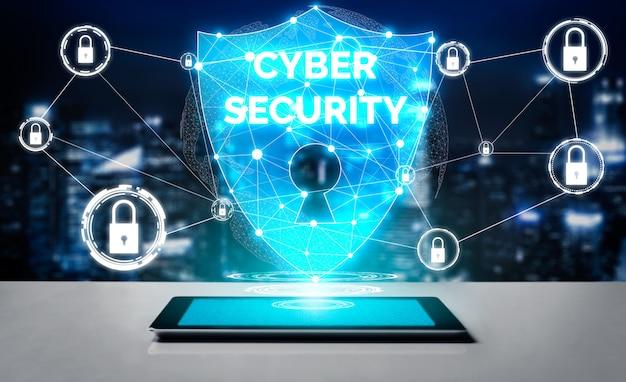 Segurança cibernética e conceito de proteção de dados digitais Foto Premium