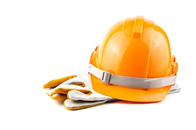 Segurança do capacete no local de trabalho. Foto Premium