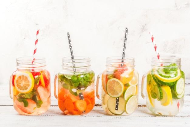 Seleção de águas refrescantes infundidas Foto Premium