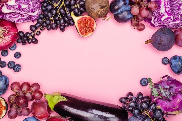 Seleção de alimentos roxos Foto Premium