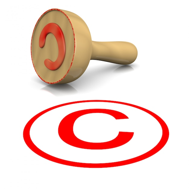 Selo de direitos autorais Foto Premium