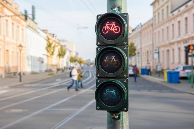 Semáforo para bicicletas Foto Premium