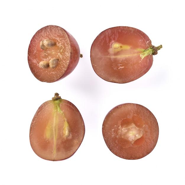 Semente de uva isolado no fundo branco Foto Premium