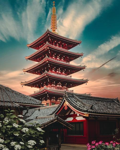 Sensō-ji, o antigo templo budista em asakusa, tóquio Foto gratuita