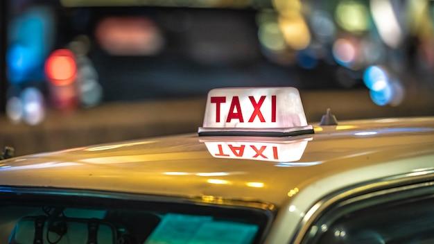Serviço de transporte de táxi Foto Premium