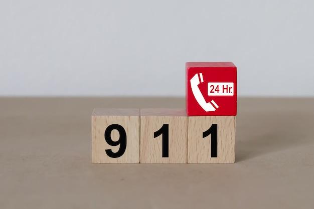 Serviços de número de emergência 911. Foto Premium