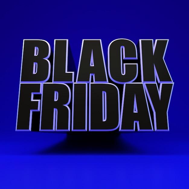 Sexta-feira negra quadrado azul banner Foto Premium
