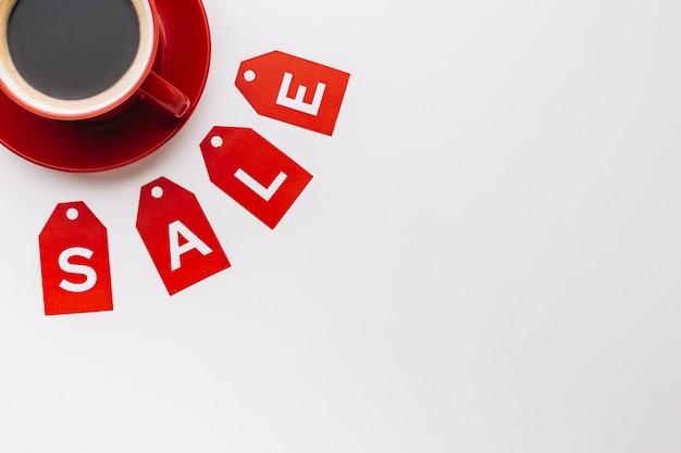 Sexta-feira negra venda conceito de café Foto gratuita