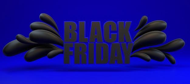 Sexta-feira preta longa faixa azul e preta. Foto Premium