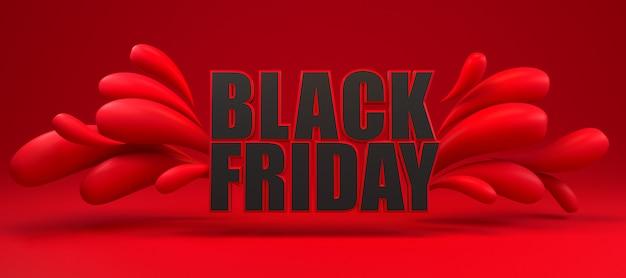 Sexta-feira preta longa faixa vermelha e preta. Foto Premium