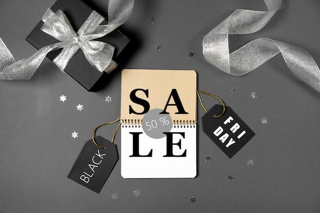 Sexta-feira venda conceito preto, cópia espaço Foto Premium