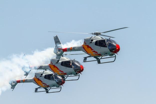 Show de helicóptero Foto Premium