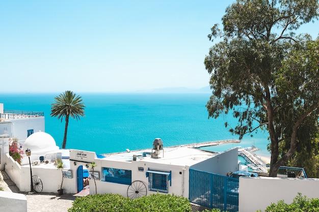 Sidi bou said, tunísia Foto Premium