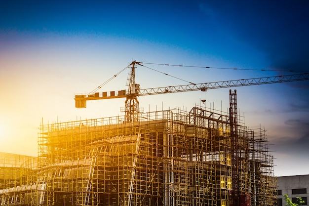 Silhueta de construção Foto gratuita