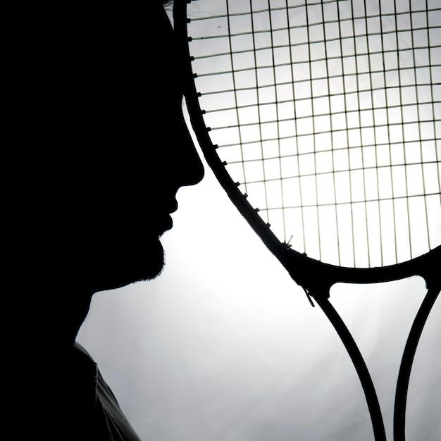 Silhueta do tenista Foto gratuita