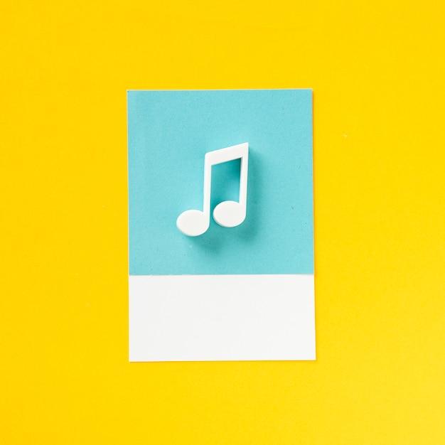 Símbolo de áudio colorido nota musical Foto gratuita