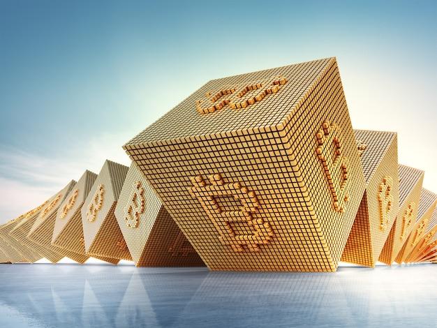 Símbolo de bitcoin no conceito de tecnologia e criptomoeda blockchain. Foto Premium