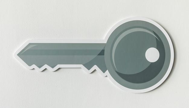 Símbolo de ícone de acesso chave de segurança Foto gratuita
