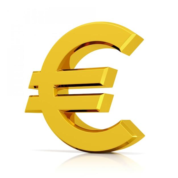 Símbolo do euro isolado no fundo branco Foto Premium
