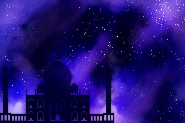 Símbolo do feriado islâmico do ramadã Foto gratuita