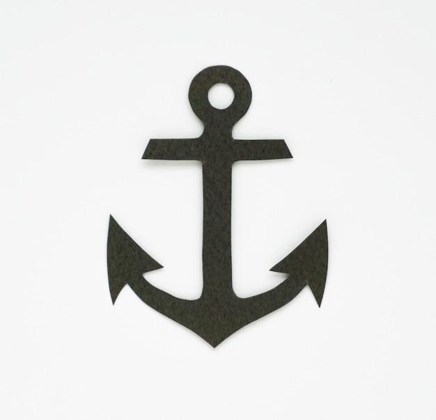 Símbolo gráfico de ícone marinho de âncora Foto gratuita