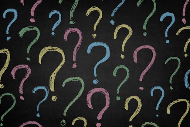 Símbolos de interrogação cor Foto gratuita