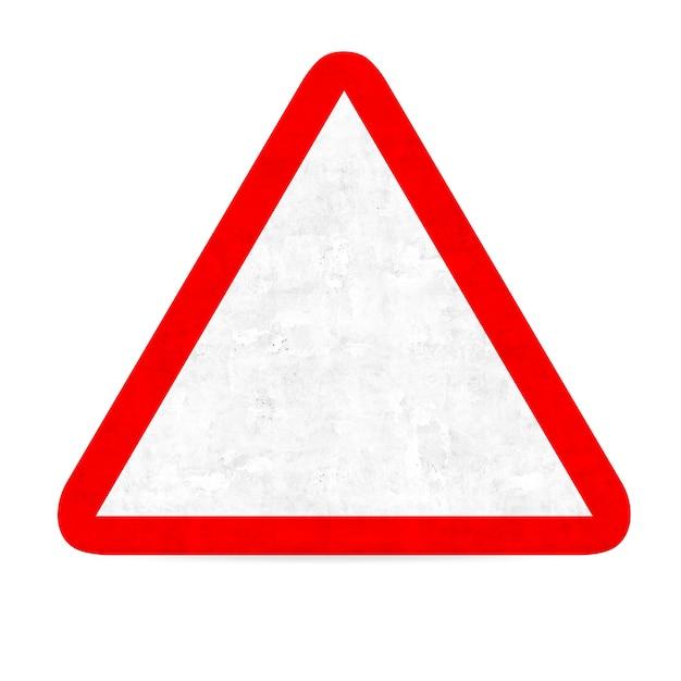 Sinal de estrada do perigo vazia Foto gratuita