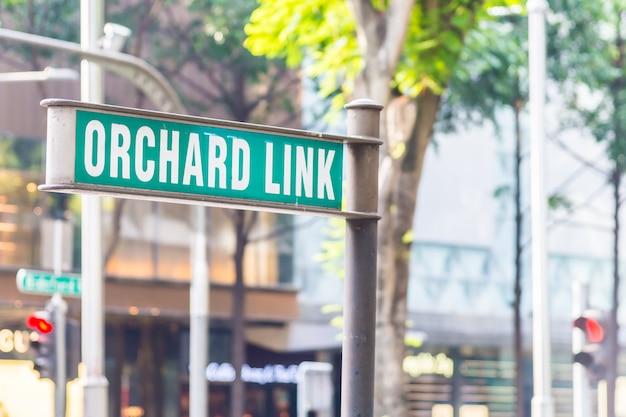 Sinal de pomar em cingapura Foto gratuita