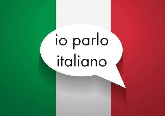 Sinal, falando, italiano Foto Premium