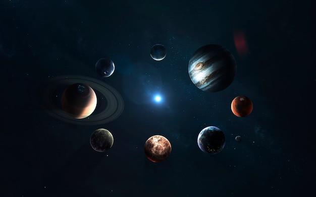 Sistema solar. símbolo da exploração espacial. Foto Premium