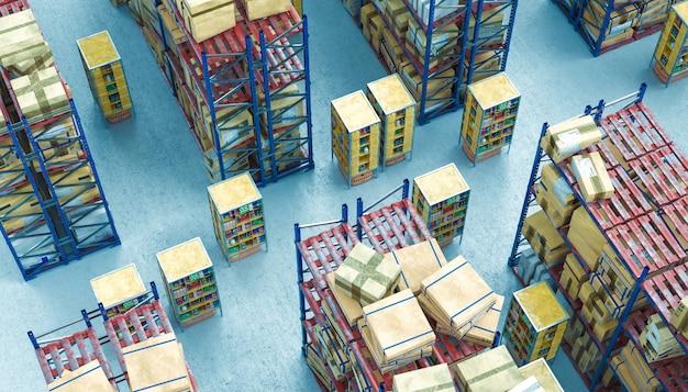 Sistemas de armazenamento automatizado Foto Premium