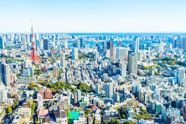 Skyline da cidade de tóquio Foto gratuita