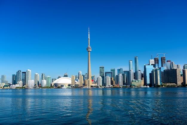 Skyline da cidade de toronto, ontário, canadá Foto Premium