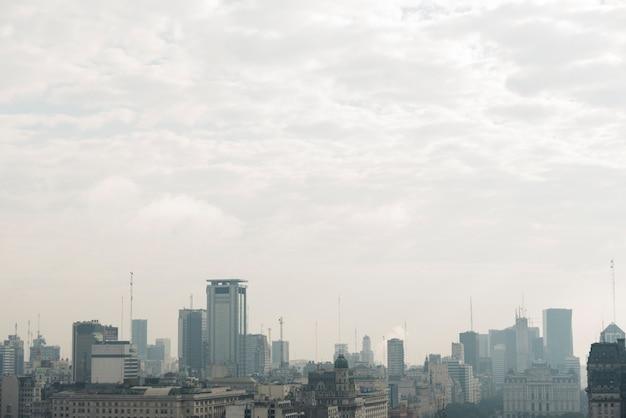 Skyline da paisagem urbana Foto gratuita