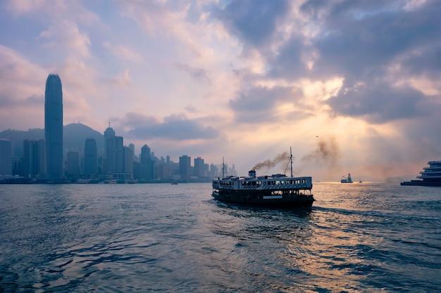 Skyline de hong kong. hong kong, china Foto Premium