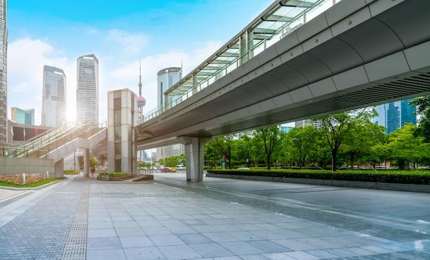 Skyline de paisagem arquitetônica de shanghai lujiazui Foto Premium