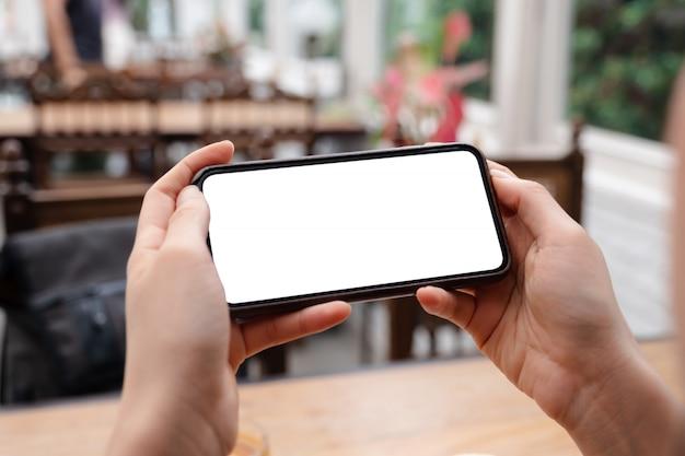 Smartphone com tela em branco Foto Premium