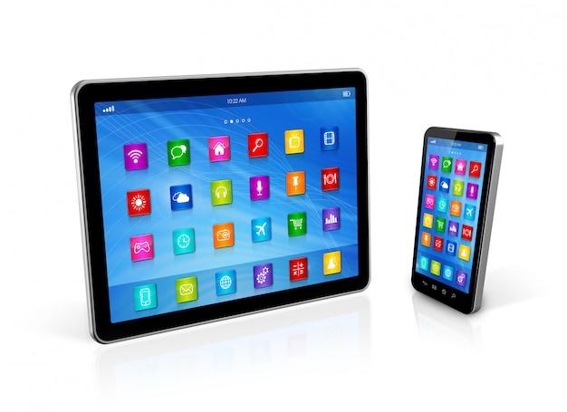 Smartphone e tablet digital Foto Premium