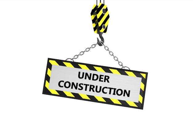 Sob o quadro de construção Foto Premium