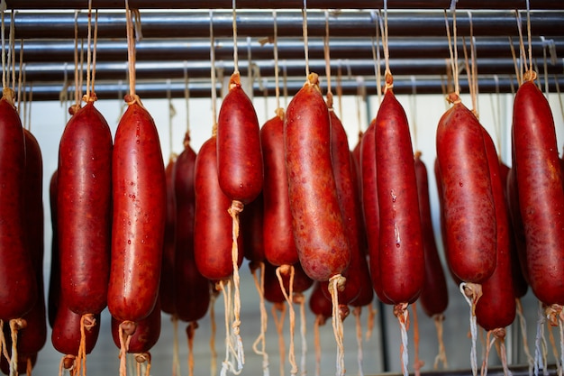 Sobrasada de mallorca salsicha típica em baleares Foto Premium