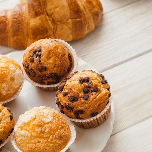 Sobremesa doce para o café da manhã Foto gratuita