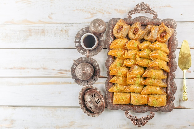 Sobremesa turca do ramadã baklava Foto Premium