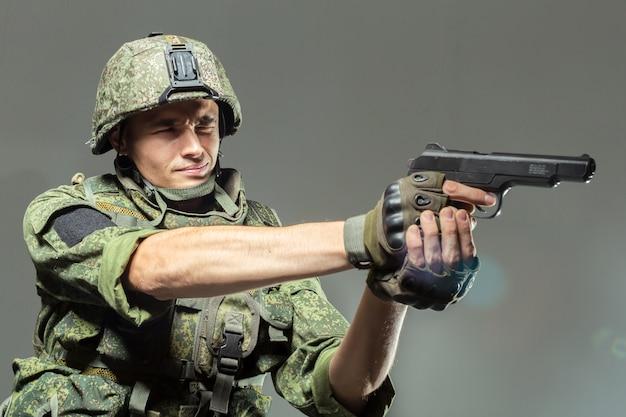 Soldado russo Foto Premium