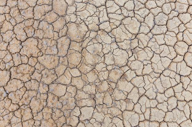 Solo seco marrom ou textura do solo rachado. Foto Premium