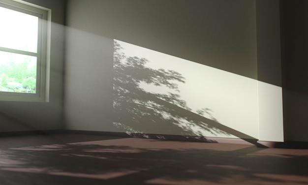 Sombras de árvores dentro de uma casa Foto gratuita