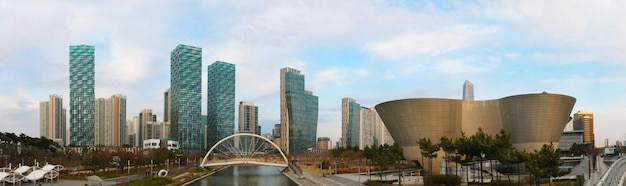 Songdo central park em incheon, coréia do sul Foto Premium